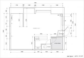 ギャラリーリテイルの平面図